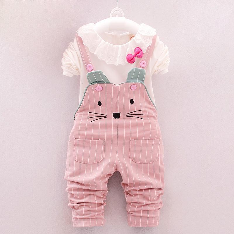 4df8cacaf797 Acquista BibiCola Neonate Abbigliamento Set Moda Ragazze Vestiti Bambini  Cotone Tops + Tuta 2 Pz Vestito Sportivo Bambino Ragazze Costume Casuale  Y18102208 ...
