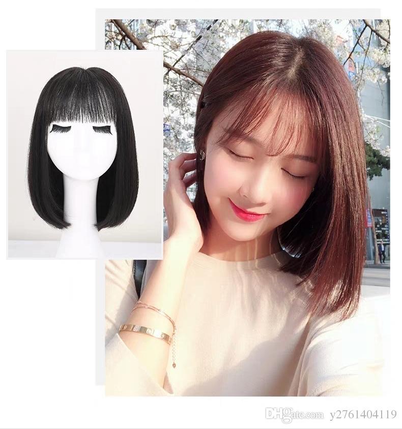 Long Hair Round Face Short Bobo Head Air Bangs Web Celebrity Cute