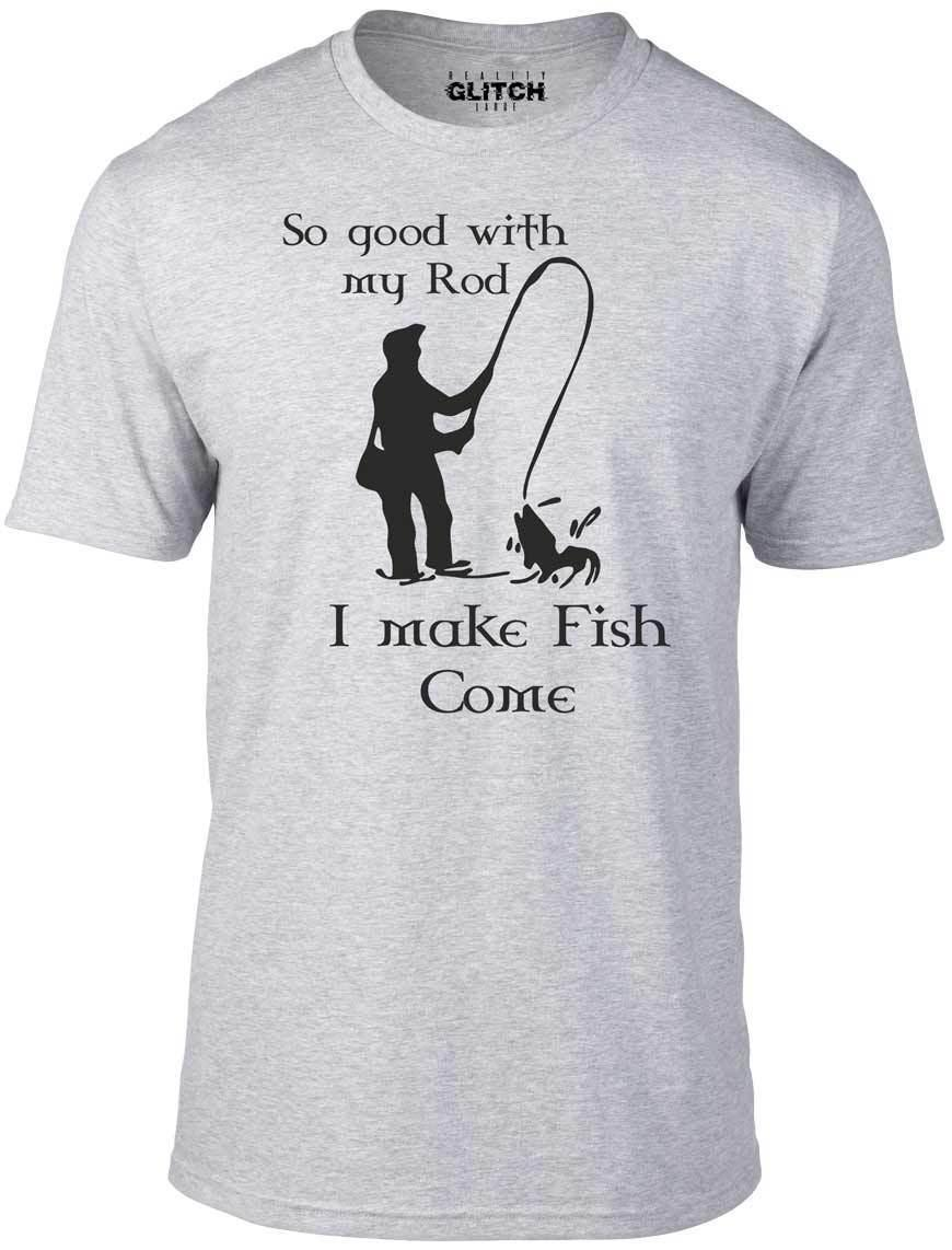 2b96650f So Good With My Rod T Shirt Funny T Shirt Fishing Fish Sport Joke River Sea  Cool Casual Pride T Shirt Men Unisex New Fashion Coolest T Shirts Online  Buy ...