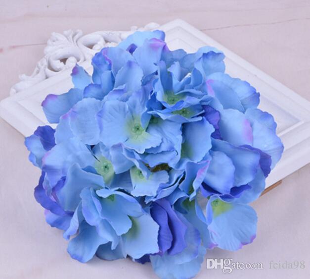Decorativo Seda Artificial Cabeza de Hortensia Simulación DIY Flor Cabeza de Seda Flor Para La Boda Decoración Del Hogar Flor GA52