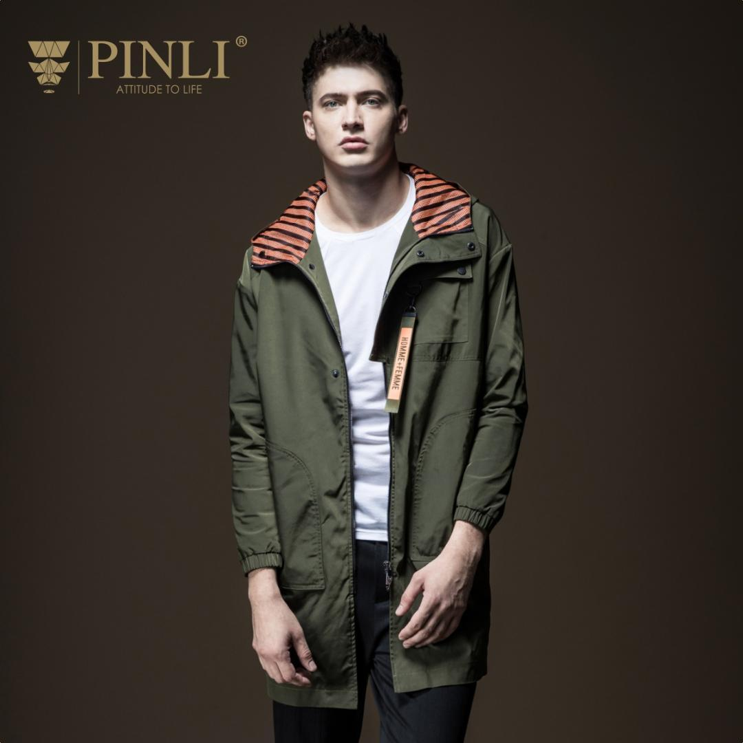 5e07b4013 PINLI pin Li 2018 New Style Men s wear, long hat, raincoat and coat  B183303399 in autumn.