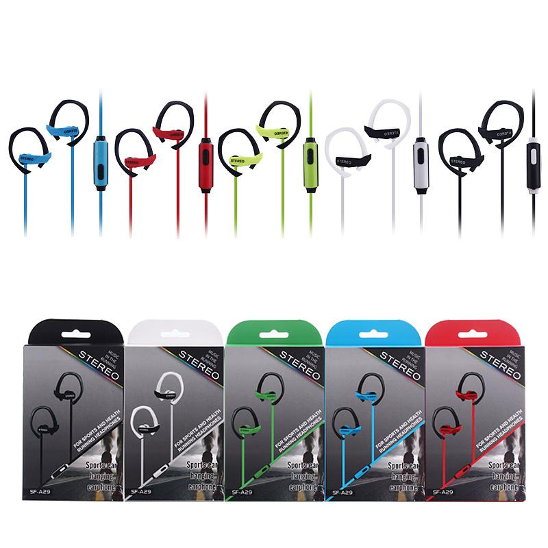 New Ear Hook Sport Earphone Bass Music Headset handsfree Headphone With Mic 3.5mm Earbuds For All Mobile Phone MP3 Running Headset