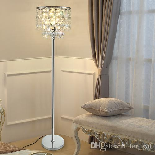 Discount luxury modern royal dimmable floor lamps crystals for discount luxury modern royal dimmable floor lamps crystals for living room bedroom study room office dinning room k9 crystal led standard lamp from china aloadofball Images