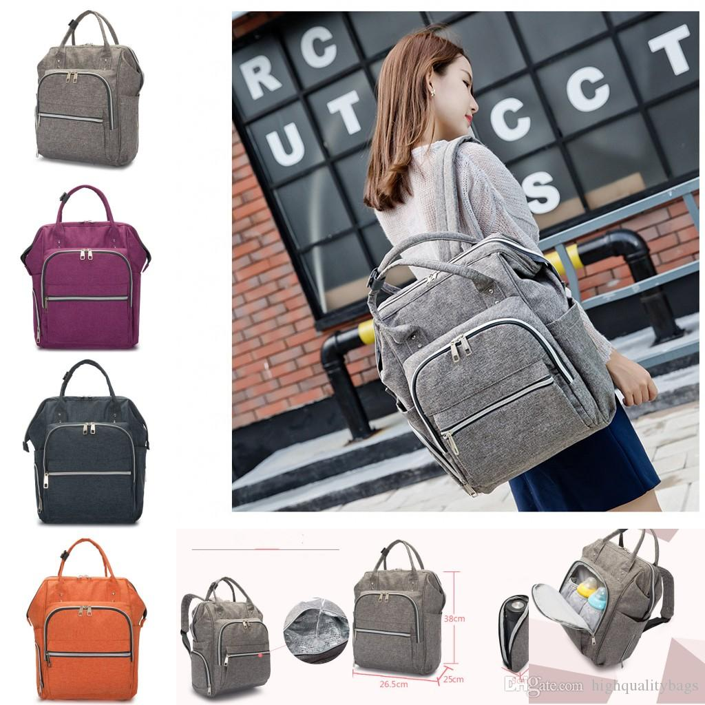 2018 New Multifunctional Baby Diaper Backpack Mommy Changing Bag Mummy  Backpack Nappy Mother Maternity Backpacks Party Hiking Backpack Swiss Gear  Backpack ... 804078b63db74