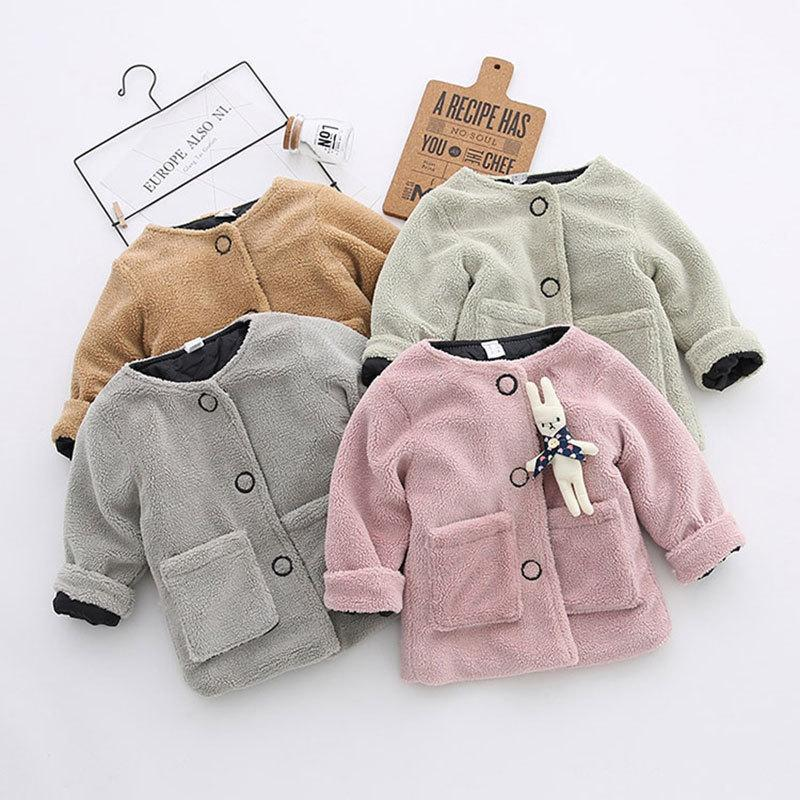 da8989467 Newborn Girl Autumn Spring Cotton Fleece Thick Warm Jacket Fashion ...