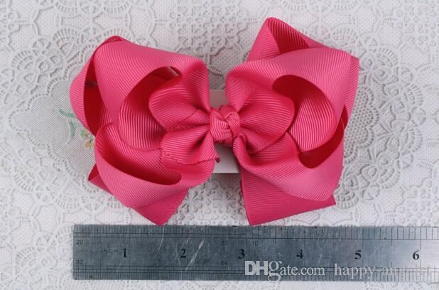 Gril 4.5 pouces gros-grain ruban cheveux arcs clips Chapeaux Layered Bowknot boutique cheveux élastiques cravates accessoires de cheveux funky HD3207