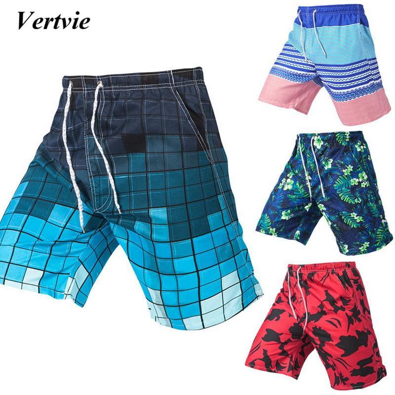 449ee681abf2e4 Vertvie 2018 Men's Beach Board Shorts Quick Dry Sports Trunks Printed  Swimming Surfing Shorts Summer Swimsuit Gym Running Men's Trunks Cheap Men's  Trunks ...