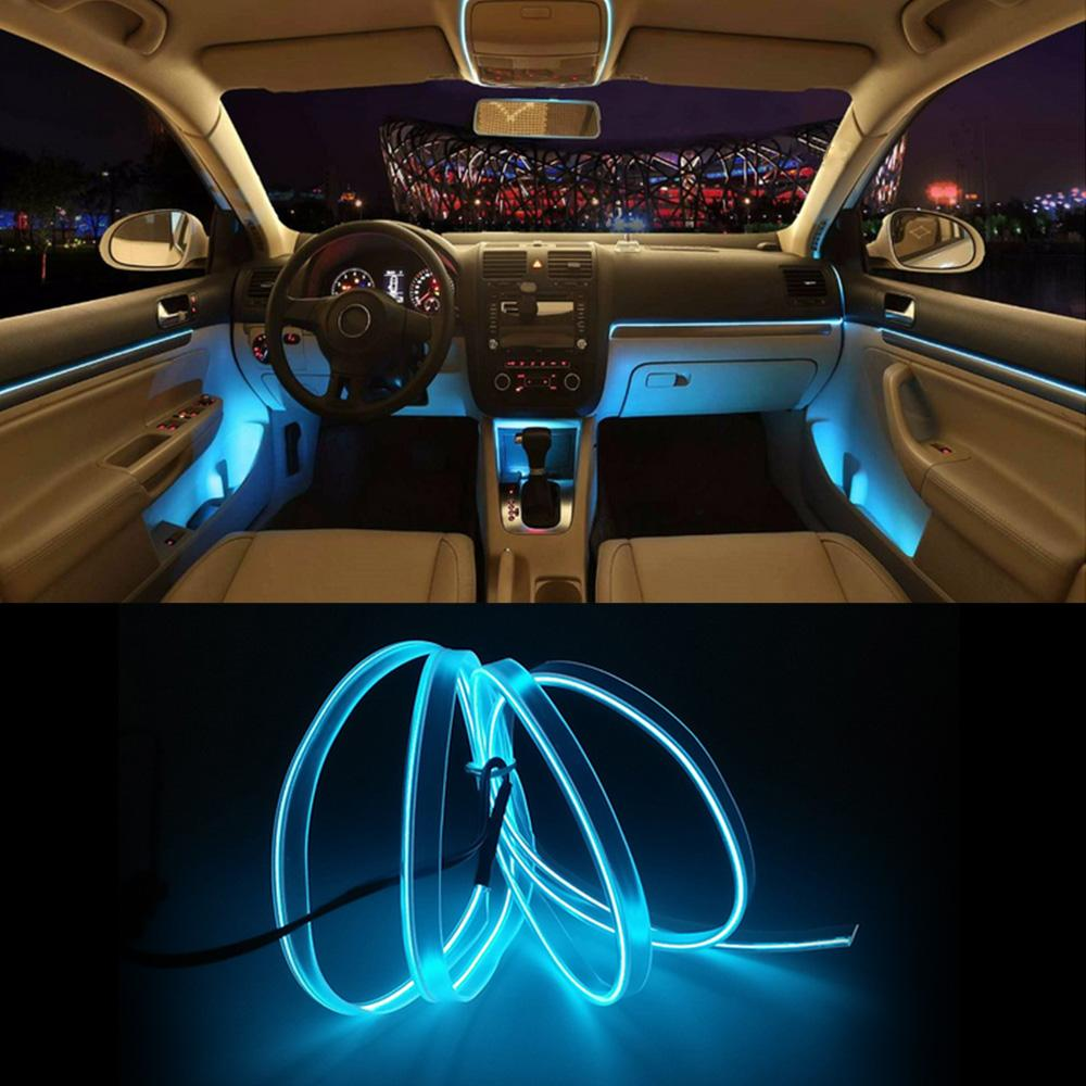 2019 New Model Interior Car Lights EL Car Cold Light Line T10 LED Bulb LED  Line 3 Meters Auto Accessories From Ayintian, $36.56   DHgate.Com