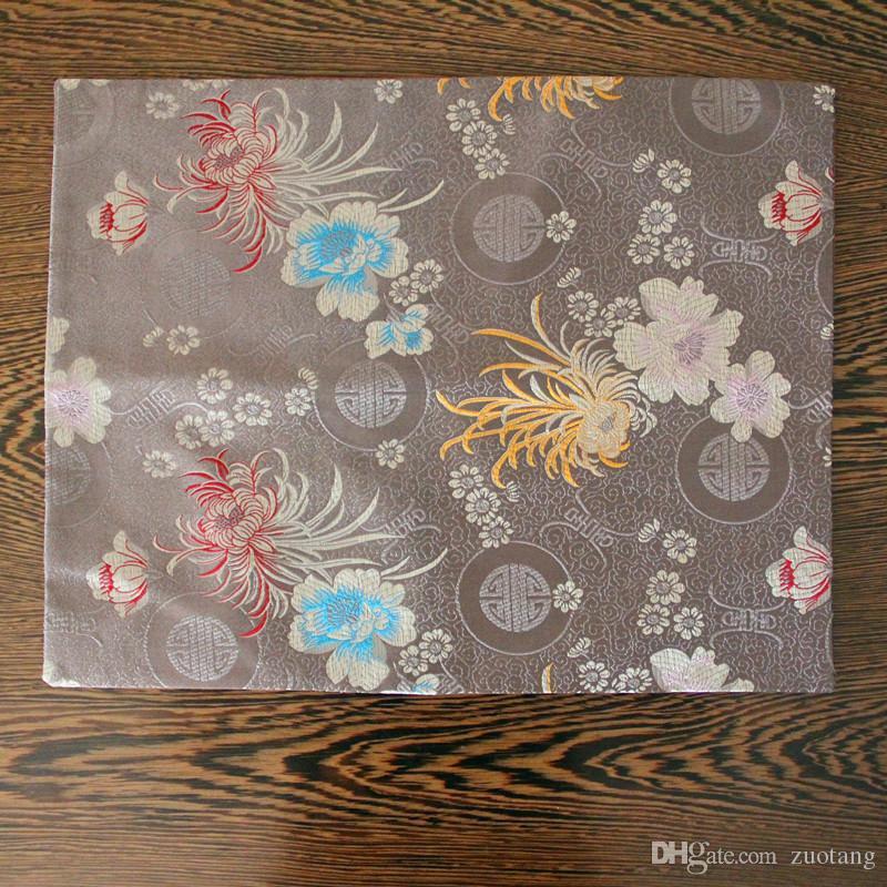 Роскошный цветочный ужин шелковые ткани салфетки обеденный стол коврик большой прямоугольник высокое качество дамасской изоляции площадку 40x32cm