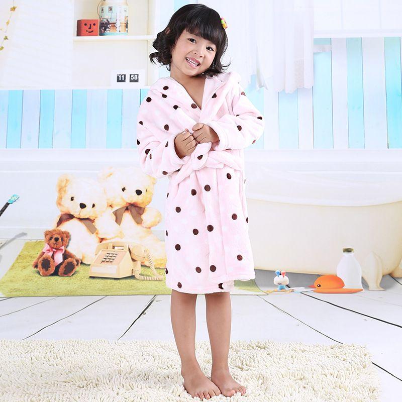 cc65cdbb6e 2017 Children S Bathrobes For Kids Girls Bathrobe Flannel Fleece Baby  Bathrobe Boys Sleepwear Child Robe Winter   Autumn Pjs With Feet For Kids  Cotton Pjs ...