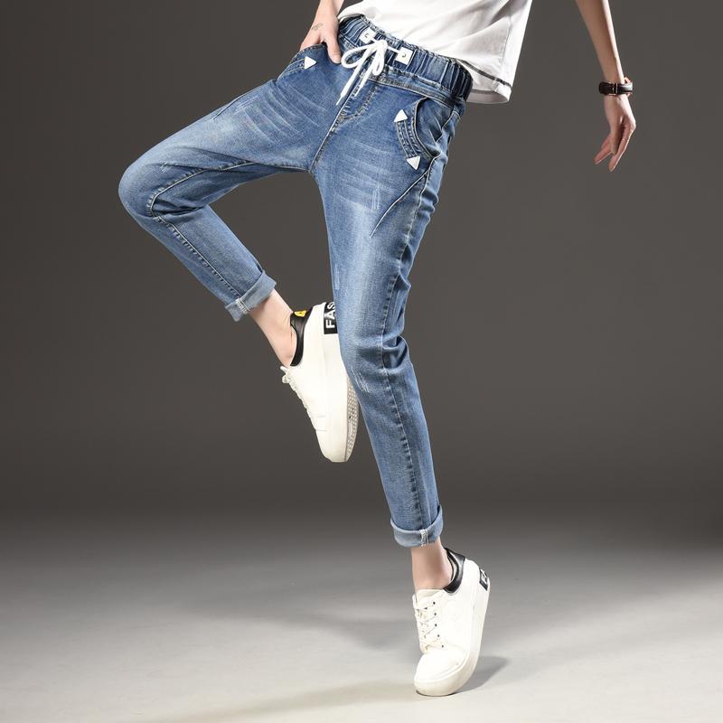 Jeans Mode Pour De Pantalons Taille Acheter Noir Femmes by7fg6