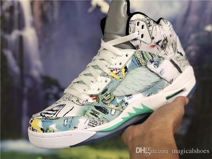 64b7eb3358d Compre El Más Nuevo 2018 5 Wings Man Basketball Shoes Multi Color ...