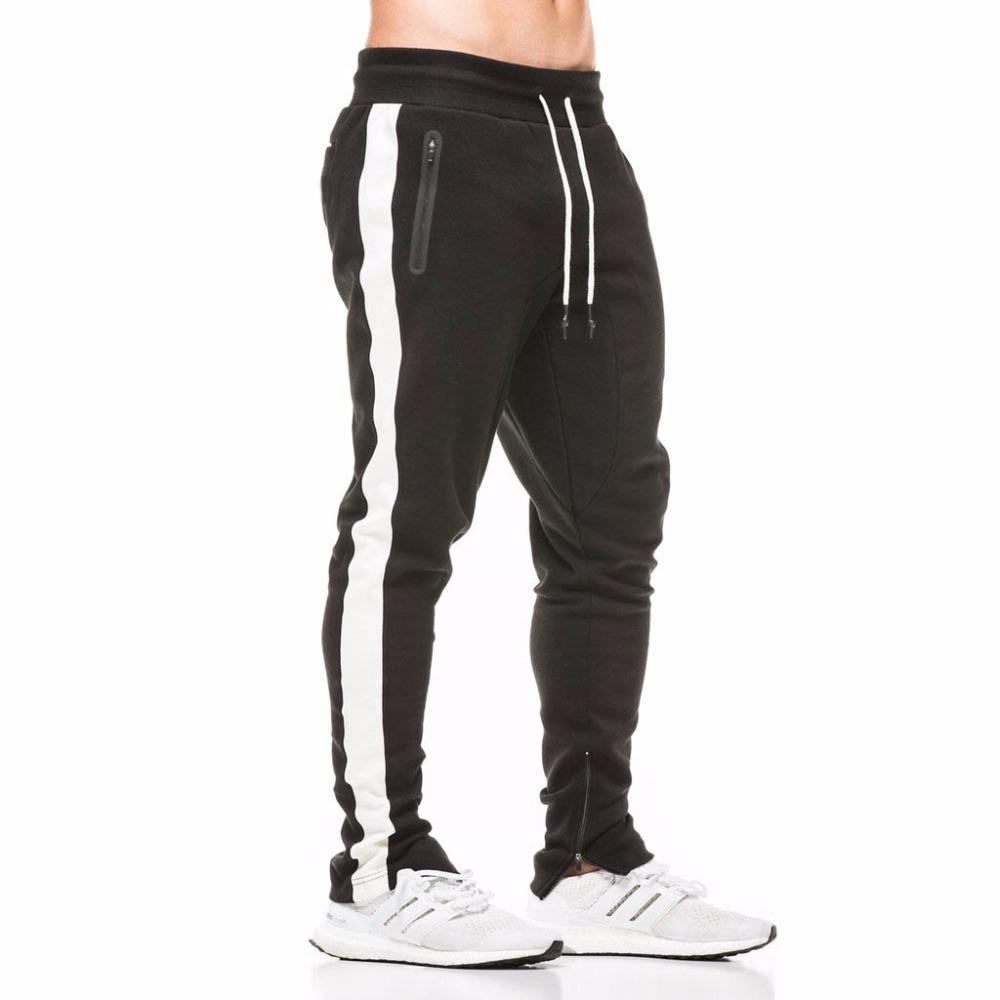 Autumn New Jogging Pants Men Fitness Joggers Leggings Sport Bodybuilding Sweatpants Gym Training Running Pants Striped Trousers