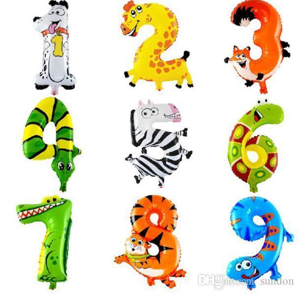 16 дюймов животных количество фольги воздушные шары дети украшения партии с Днем Рождения свадебные украшения баллон подарок