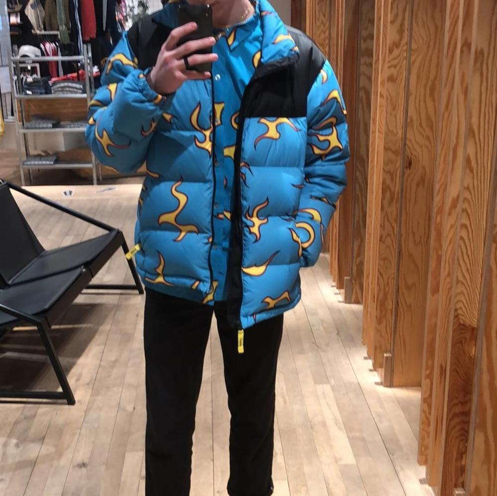 2d0cfadbf26c 2019 18FW Golfwang Flame Down Jackets Blue Flame Down Jackets Golf Down  Jackets Cotton Man And Women Coat HFWPYRF045 From Andys tribe