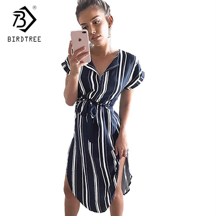 714aea0b28 2018 New Arrival Summer Dresses Casual V Neck Elegance Short Sleeve Floral  Print With Sash Plus Size 3XL Women Clothing D87303L Dress For Womens White  ...