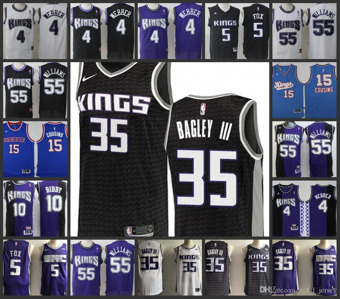 9f89f7353349 Sacramento Kings Men Jerseys  4 Chris Webber 35 Marvin Bagley III 55 Jason  Williams 10 Mike Bibby Stitched Jersey Online with  24.27 Piece on ...