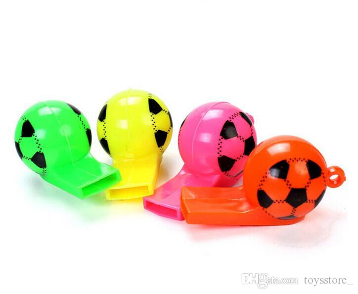 Plastic football whistle World Cup football Cheerleading fans cheering toy supplies Kids basketball baseball football and game toys