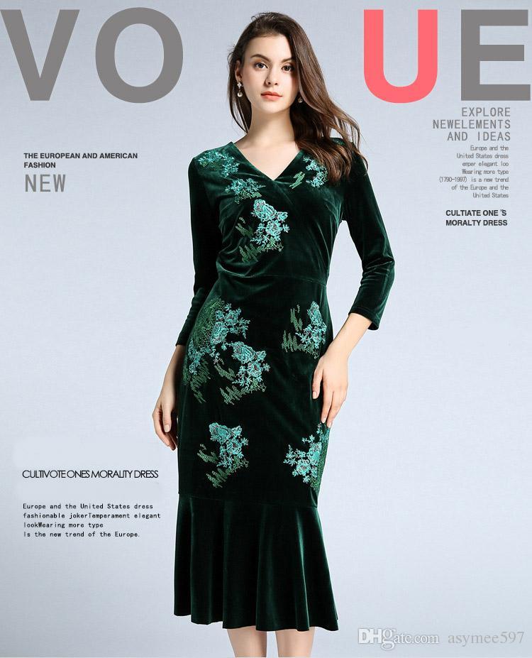 ee5b5b5ce Compre Vestido De Sirena Bordado De Belleza Para Mujer
