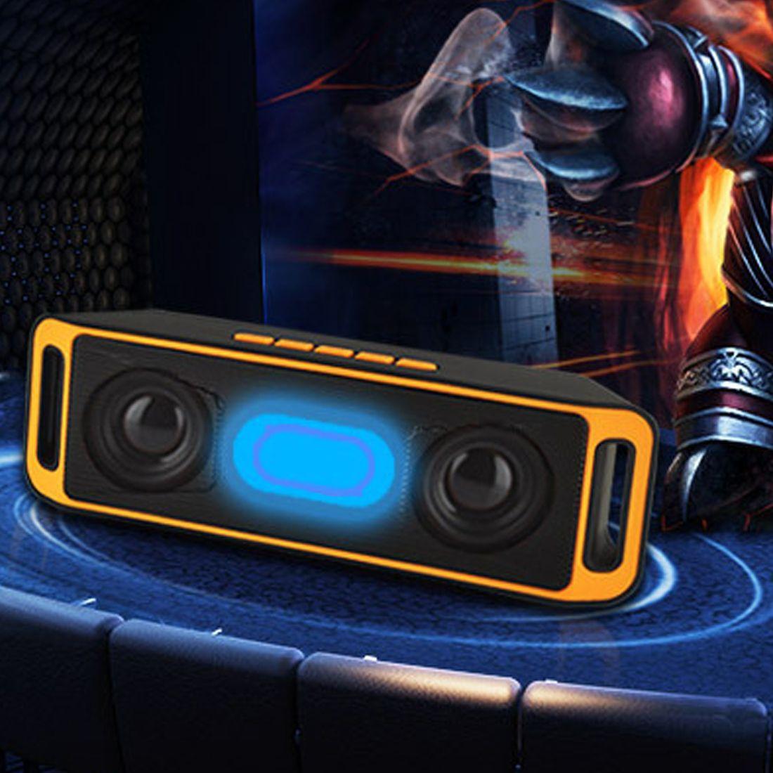 SC208 Süper Bas Ses Hoparlör Bluetooth Portatil Stereo Senza Fili Subwoofer TF USB FM Radyolojik bağlantı başına telefono forhuawei
