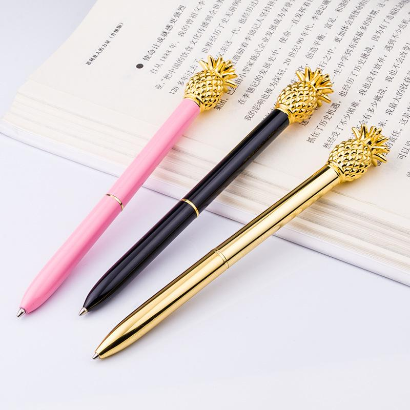 Charmant Pineapple Ballpoint Pen Metal Luxury Womens Signature Pen Ball Point Pens  Stationery School Office Supplies Gift Retractable Fountain Pen Visconti  Fountain ...