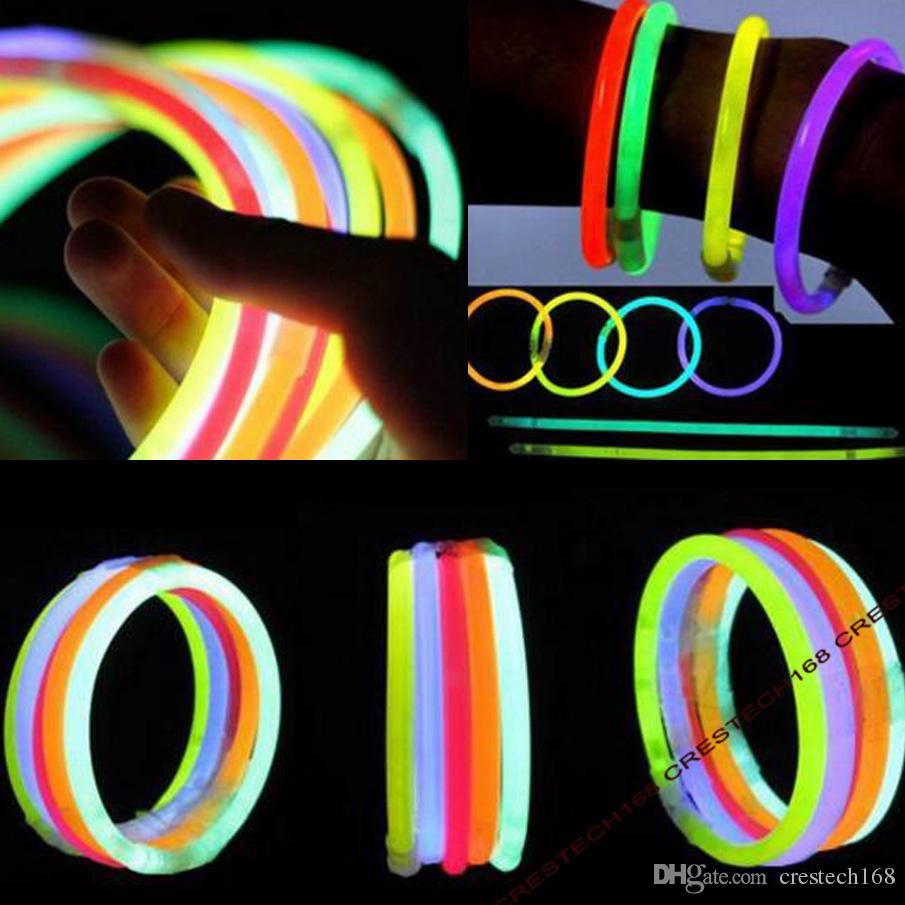 Glow New and hot glow sticks Stick Bracelet Necklaces Neon Party LED Flashing Light Stick Wand Novelty