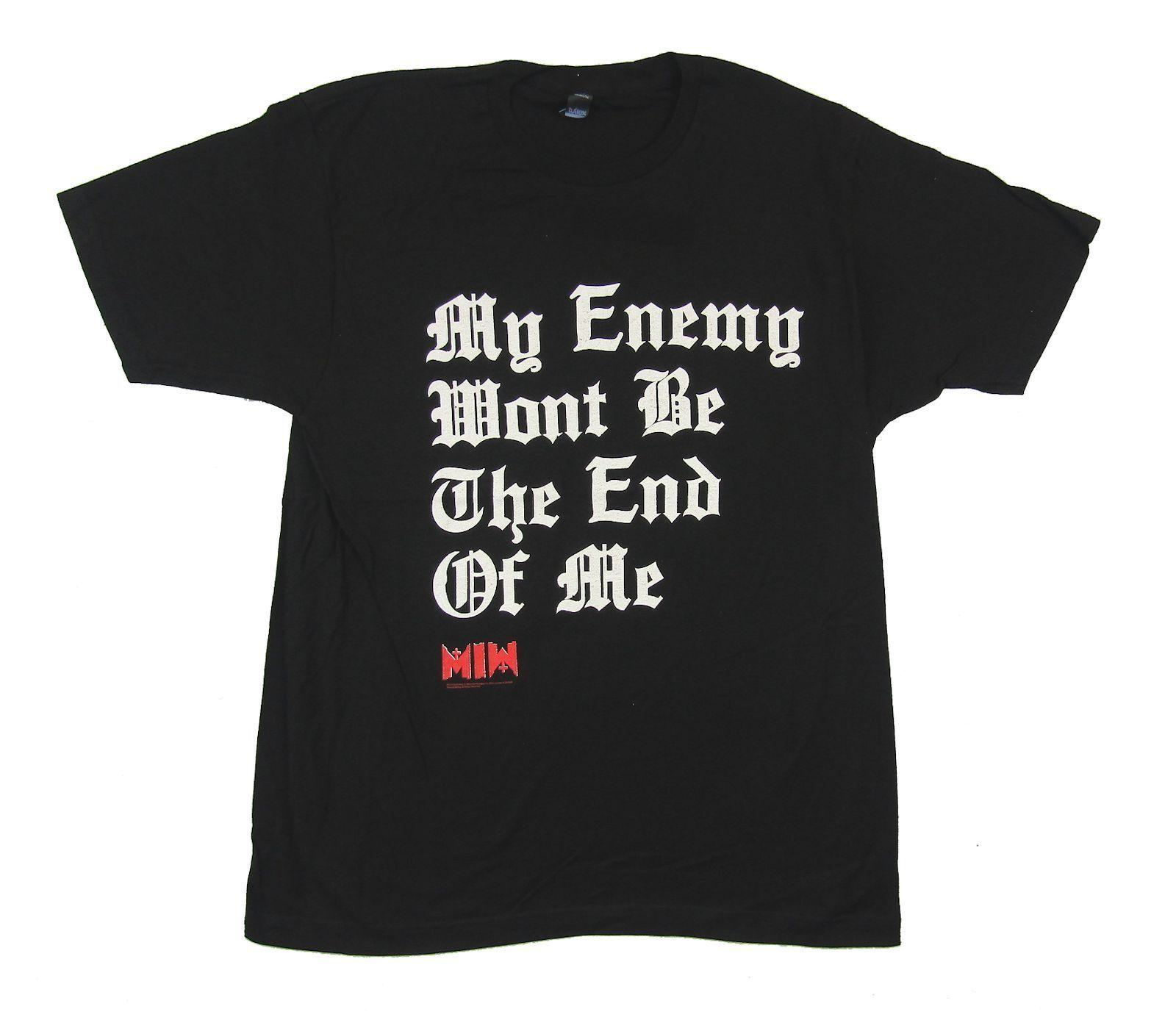 46b1babf Motionless in White My Enemy Black T Shirt New Official T Shirt O ...