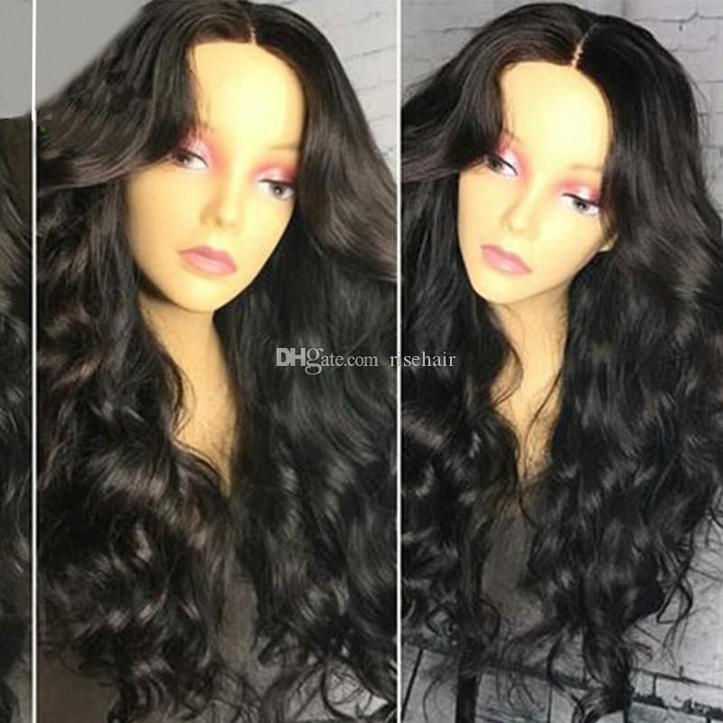 Human Hair Lace Wigs Brazilian Body Wave Hair Full Lace Wig 100% Virgin Long Wavy Glueless Lace Front Wigs For Black Women