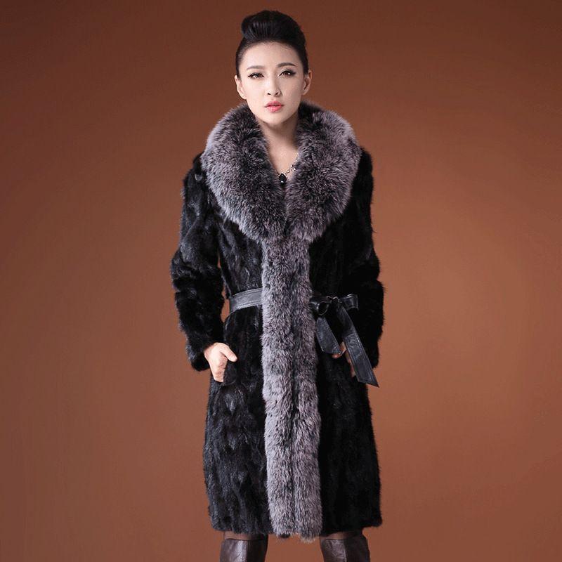da4141d7aca European America 2018 Winter Coat Jacket Women Comfort Elegant High Quality  Artificial Fox Faux Fur Long Outerwear Female J431
