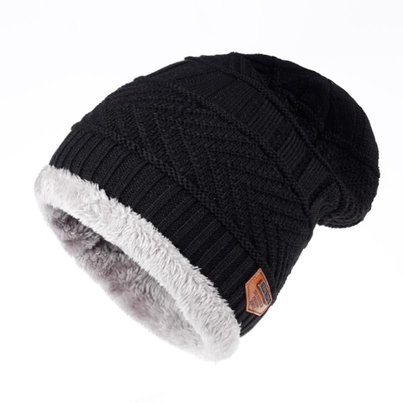 622e278146e0a TUNICA 2017 New Winter Men s 100% Cotton Hat Fashion Adult Neutral Thickened  Knitted Wool Hat Warm Winter Ski Cap Male Cap Ski Cap Male Cap Knied Wool  Hat ...