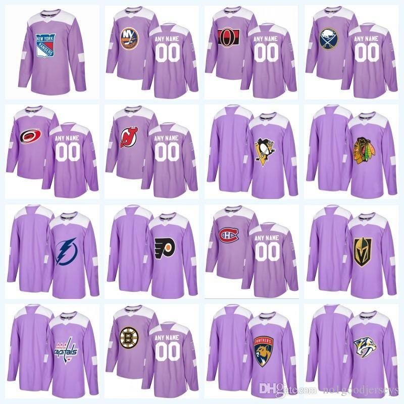48a3b4c55e8 ... get 2018 custom hockey jerseys purple fights cancer practice jersey washington  capitals bruins panthers philadelphia flyers