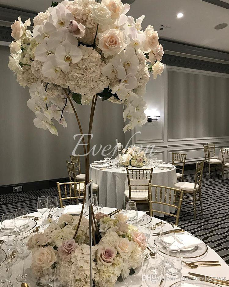 Elegant Wedding Supplies Gold Flower Vase Metal Flower Stand Wedding