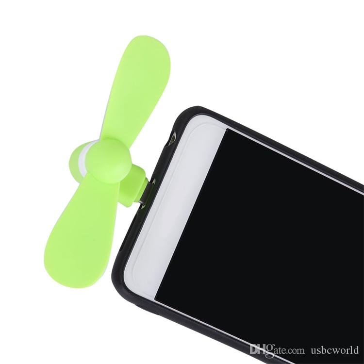 Toptan Mikro Taşınabilir USB Mini Fan Telefon Aksesuar Iphone Android Smartphone Için Rastgele Renk Ücretsiz Kargo
