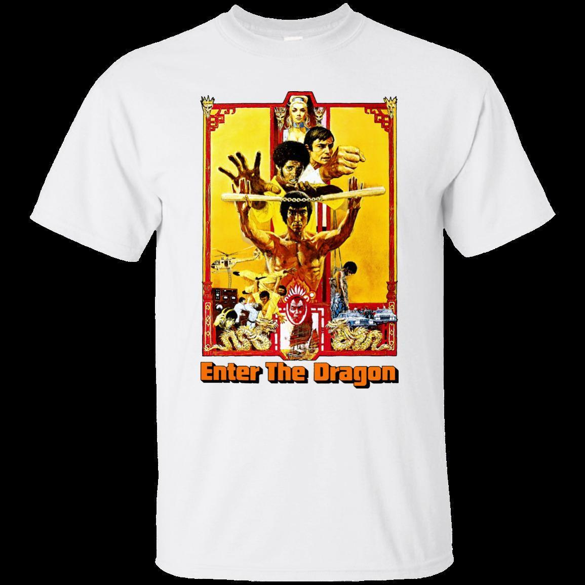 Bruce Lee, Enter the Dragon, Retro, Karate, Kung-fu,Movie, Game Men T Shirt  Short Sleeve Round Neck O-Neck Sunlight Men T-Shirt top tee