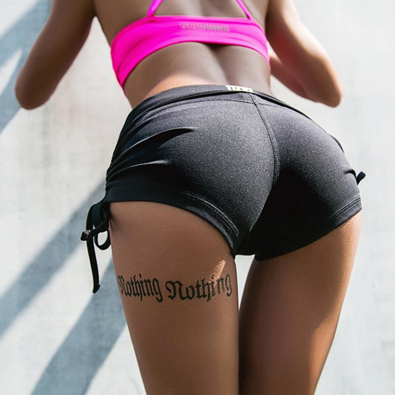 2019 Hot Sale Women'S Sexy Yoga Shorts With Adjustable