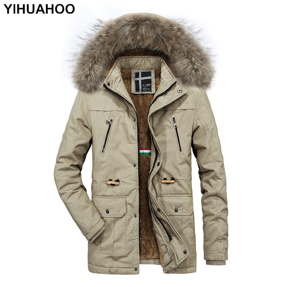 ICEbear 2018 Weiche Stoff Winter Herren Jacke Verdickung Casual Baumwolle Jacken Winter Mid Lange Parka Männer Marke Kleidung 17MD962D D18101001