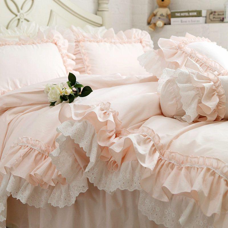 Großhandel Neue Stickerei Luxus Schichten Bettwäsche Set Süße