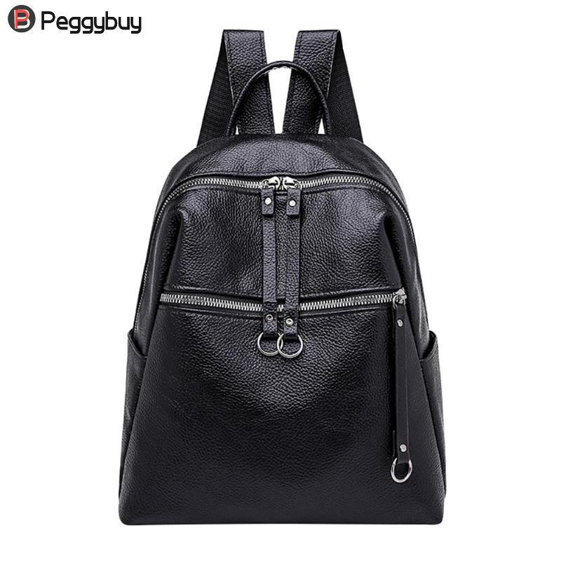 195ed1dd51 2018 Cool Women Backpack PU Leather Shoulder Bag Student Girls Travel School  Bags Rucksack Jansport Backpacks From Saltyk