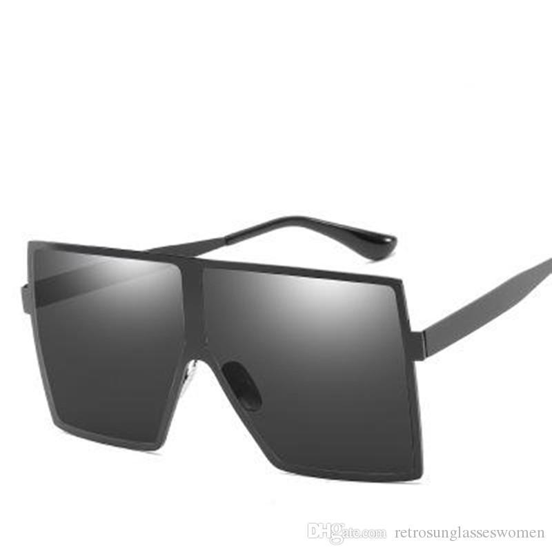 d891515019 2018 New Retro Metal Big Frame Mens Sunglasses UV400 Womens Adumbral PC Lens  Unisex Eyewear High Quality Sale Cheap Eyeglasses Sunglasses Shop From ...