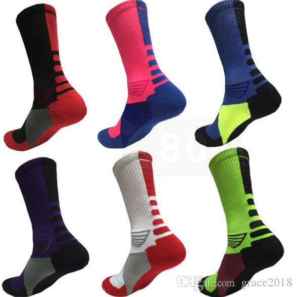 d54ed4c940a 2019 Professional Elite Basketball Socks Long Knee Athletic Sport Socks Men  Fashion Compression Thermal Winter Socks Wholesales From Grace2018