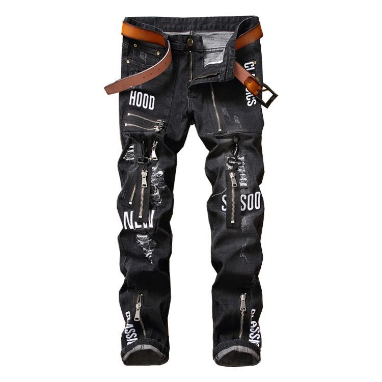 Acheter Black Skinny Jeans Hommes Original Design Tide Pantalon  Personnalité Mode Trous Homme De  50.77 Du Lain90   DHgate.Com eccfedcf157e