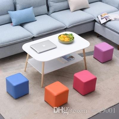 Gentil Fashion Square Stool Ottoman Sofa Chair Footstools