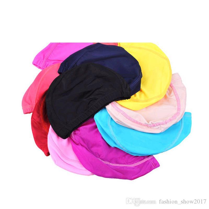 Neue Kinder Feste Badekappe Silikon Schwimmen Hüte Wasserdichte Erwachsene Kinder Caps Männer Reine Farbe Badekappe