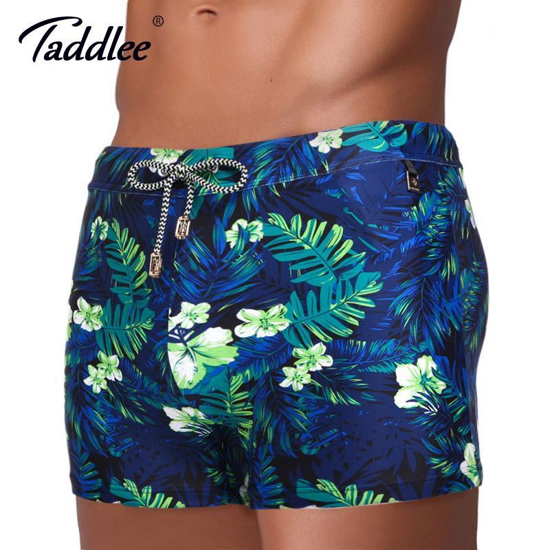 afedd25a25 2019 Taddlee Brand Men Swimwear Swimsuits Swim Boxer Trunks Board ...