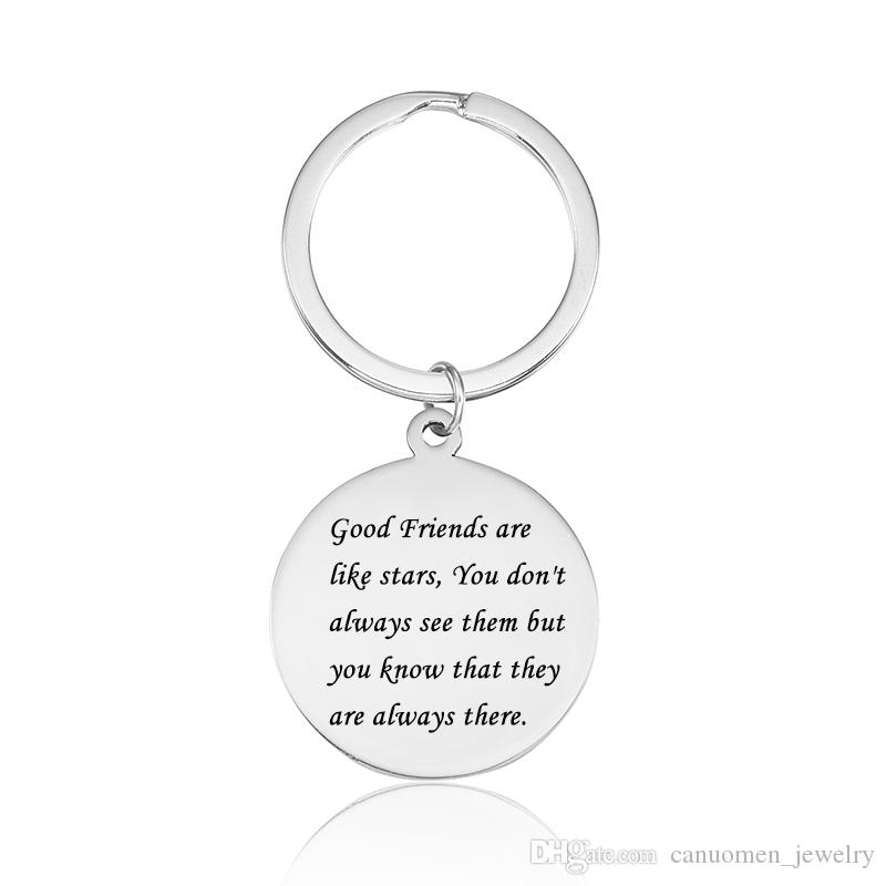 Keychain Quotes Wholesale Friends Quotes Keychain High Polished Stainless Steel  Keychain Quotes