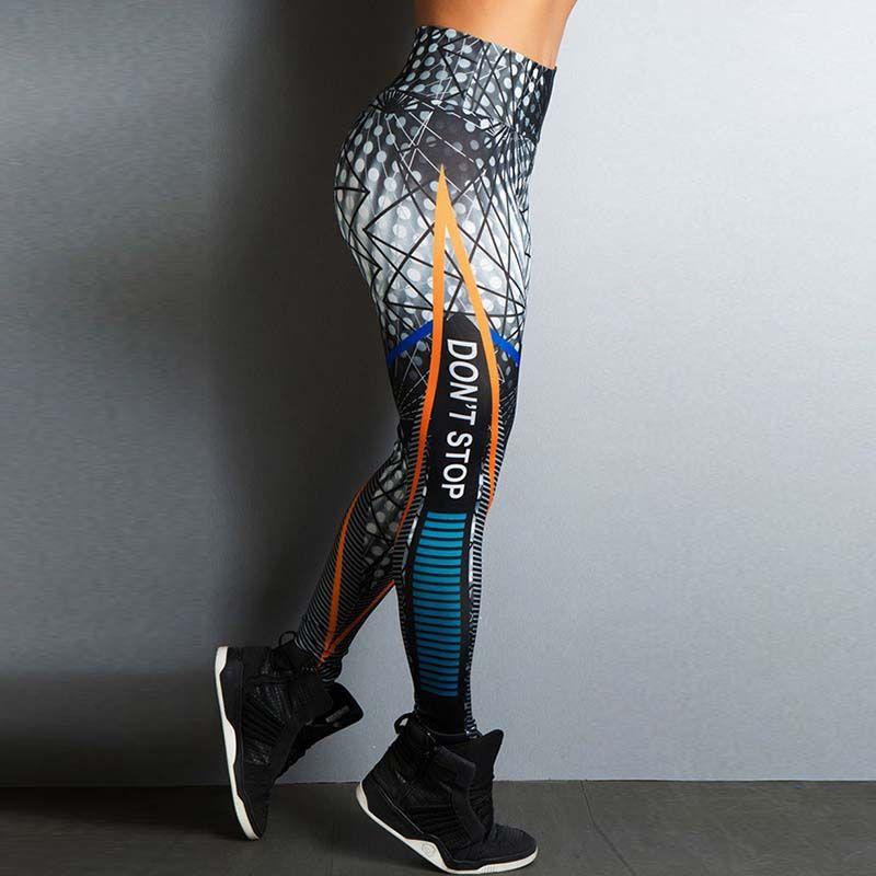 Acheter Stretch Sexy Imprimé Leggings Femmes Fitness Yoga Pantalon Motif  Entraînement Gym Sport Pantalon Vêtements Jogging Courir Collant Pantalon  De  47.54 ... 8596b52845e