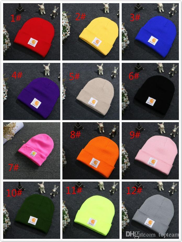 c0e755201 Fashion Cuffs Winter Beanie Hip Hop Women Hat Gorro Beanie Female Knitted  Wool Cap Mens Skully Beanies Hat TC180918