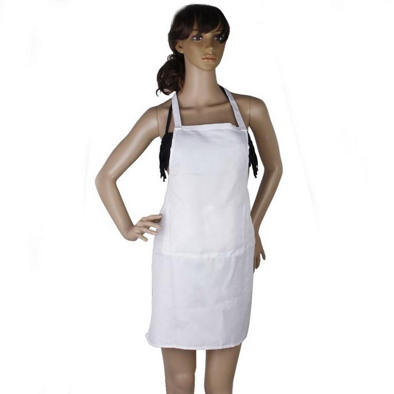 Fashion Kitchen Apron White Women Apron Cooking Chef