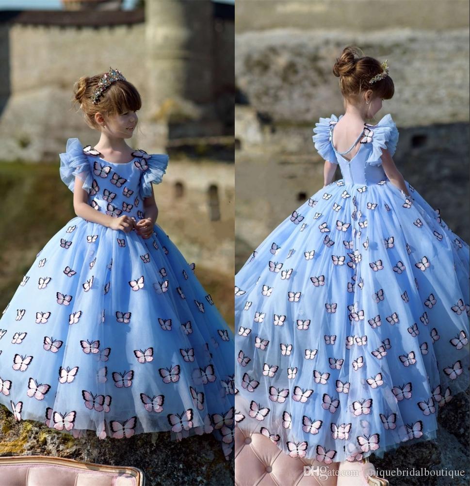 Flores Niñas Vestidos De Azul Para Hielo Mariposa 2019 Compre xrdQhBtsC