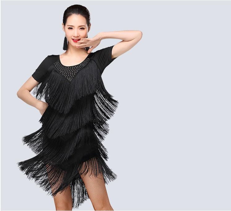 14e26ee1b Borla para adultos / niños Vestido de baile latino Mujer Niñas / Lady Cha  Cha / Rumba / Samba / Tango / Falda de baile de salón Latin Performance ...